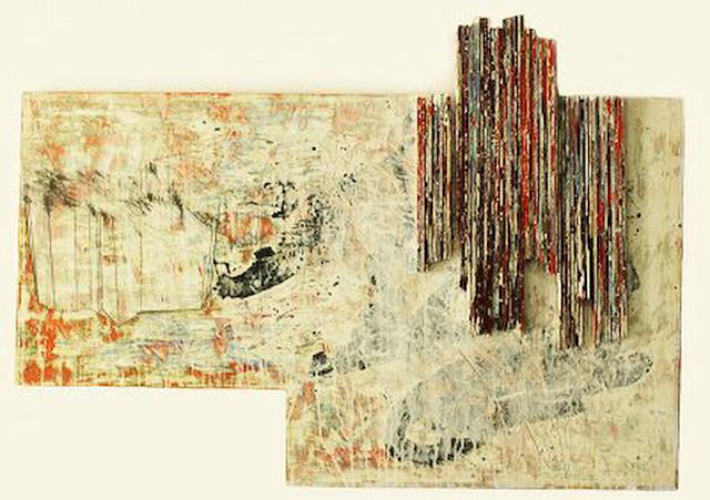 Untitled, Eugene Jarque, mixed media on wood, variable, 2011